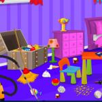Dora čisti svoju sobu