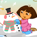 Dora na snijegu