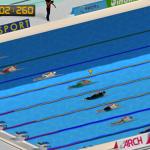 Utrka plivanja u bazenu