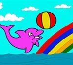 Slatka delfin bojanje