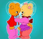 Lijep medvjed bojanje