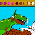 Kralj dinosaura bojanje