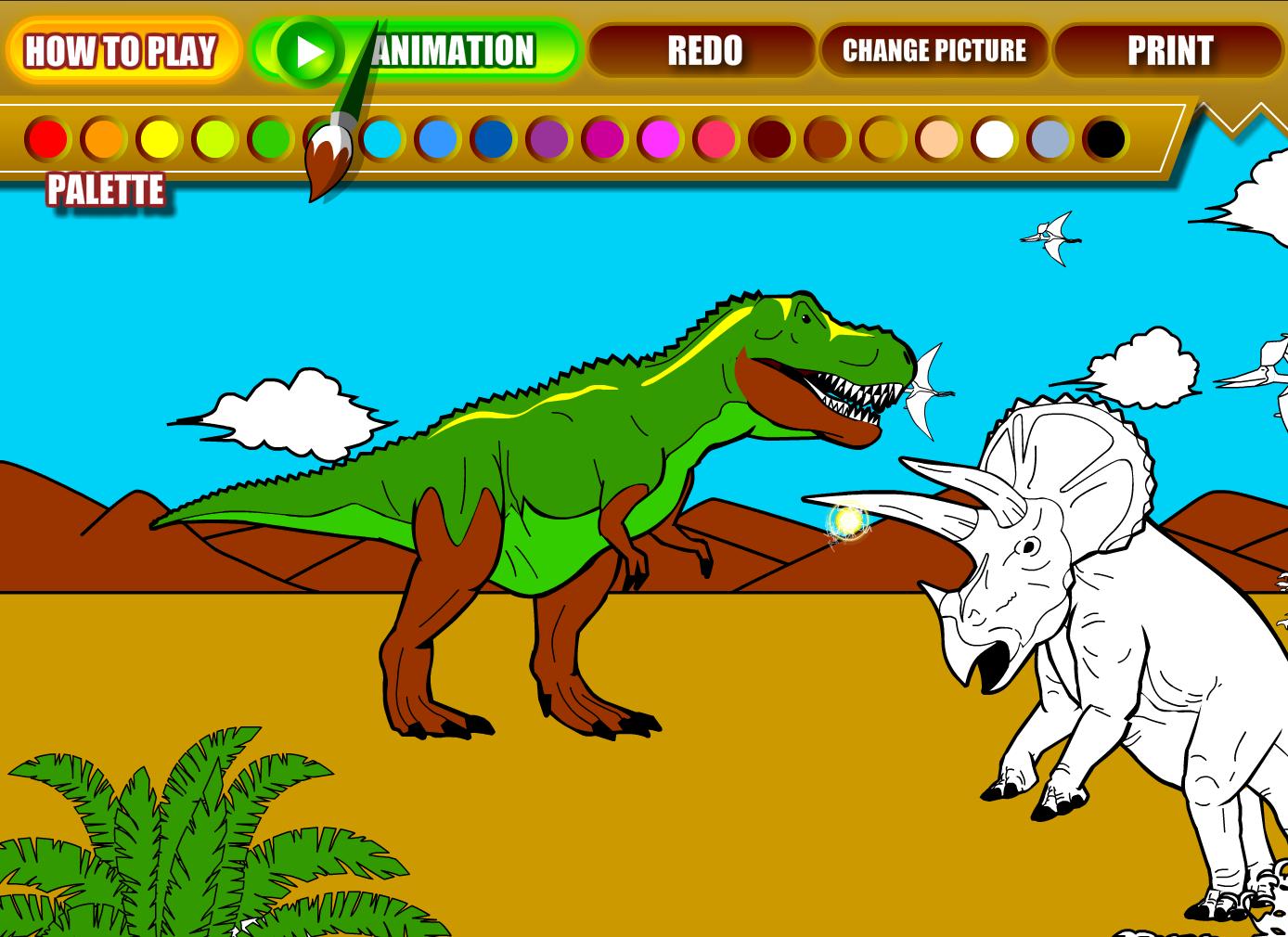 Image Kralj dinosaura bojanje