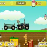 Tom i Jerry na traktoru.