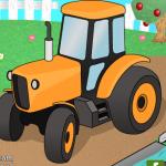 Traktor parkiranje na farmi