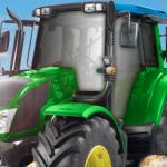 Zeleni farmerski traktor
